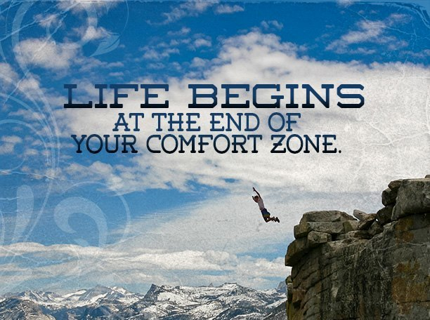 """Life Begins At The End Of Your Comfort Zone."" My Journal"